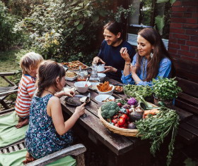 Ute, Achim & Kids